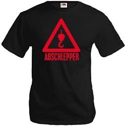 buXsbaum T-Shirt Abschlepper-L-black-red