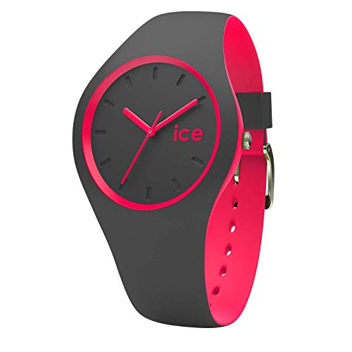 Tragen Du Lappen (Ice-Watch - Ice Duo Anthracite Pink - Graue Damenuhr mit Silikonarmband - 001501 (Medium))
