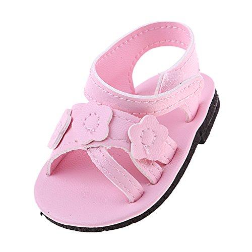 MagiDeal Hübsche Puppen Sommer Schuhe Sandalen für 18 Zoll Puppe Kleidung Zubehör - Schuhe Puppe