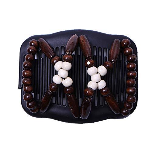Zantec Frauen Einzigartige Elastizität Stretchy Magic Beads Hair Comb Clip -