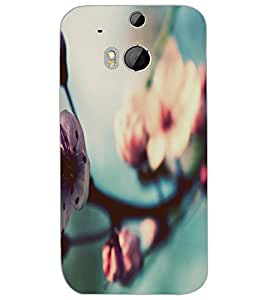 HTC ONE M8 FLOWER Back Cover by PRINTSWAG