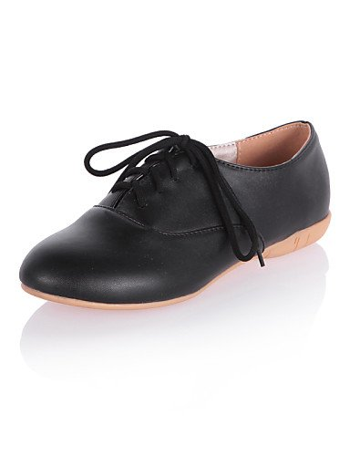 ZQ Scarpe Donna - Stringate - Formale / Casual - Comoda / Punta arrotondata - Piatto - Finta pelle - Nero / Rosa / Bianco , pink-us8 / eu39 / uk6 / cn39 , pink-us8 / eu39 / uk6 / cn39 black-us8 / eu39 / uk6 / cn39