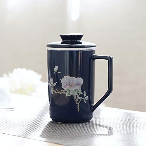 HUIJIA Kreative einfache Büro Tee-Set Keramik Kung Fu Tee-Set Tee Tasse Tee-Set Komplettset Geschenkbox Geschenk Anpassung .- Ascot Cup Ascot-cup