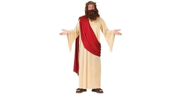 Fascia Parrucca E BARBA ADULTO COSTUME NATALE RELIGIOSO Da Uomo Gesù Costume