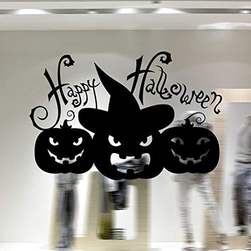 Dekoration PVC grün Halloween Kunst Wandaufkleber Wohnzimmer Schlafzimmer Glas Fenster Dekoration Aufkleber Größe 58x39cm