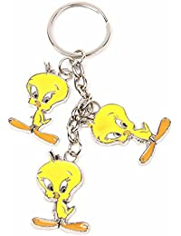 Metal Keychain Cute Yellow Tweety Bird Charms Key Ring Best Collectible