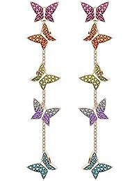 Swarovski Orecchini da Donna Lilia, Multicolore, Placcato Oro Rosa