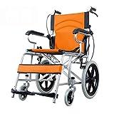 Sillas de ruedas Silla de Viaje Scooter Plegable Hogar para discapacitados portátil Ultraligero Trolley de Viaje Antiguo Peso de Carga 100kg Mejor Regalo Sillas de