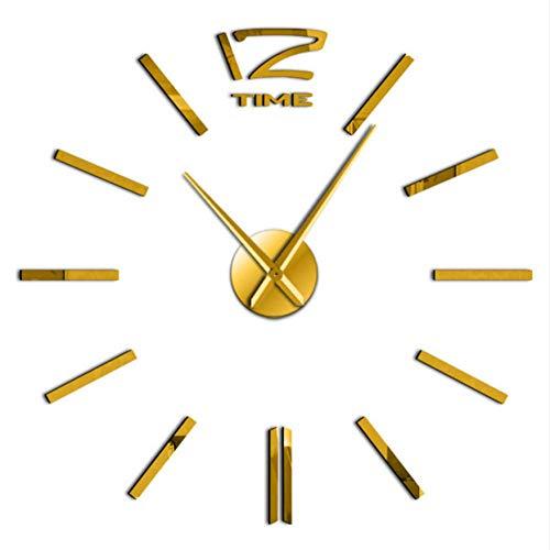 fekt DIY Wandkunst Uhr Kit Dekoration Quarzuhr Batteriebetriebene Personalisierte Uhr Uhr Mode Dekoration(27inch) ()