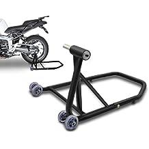 ConStands Cavalletto Alza Moto Ducati Diavel 11-17 nero opaco, Single posteriore per Monobraccio, adattatore (Moto Ducati)