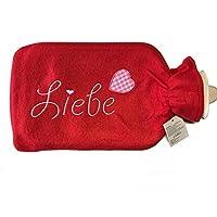 XL Wärmflasche rot LIEBE Wärmekissen 2 Liter Wärme Flasche Valentinstag Geschenk preisvergleich bei billige-tabletten.eu