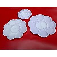 Fdit 5 Pcs Aquarelle Huile Peinture Plateau DIY Plastique Mélange Palette Art Fournitures 10 Compartiments(M)