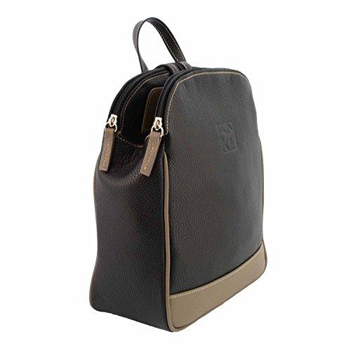 départements de sac à dos en cuir NEGRO/TAUPE