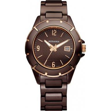 Rodania Swiss Damen-Armbanduhr Mystery Analog Quarz Keramik RS2508545