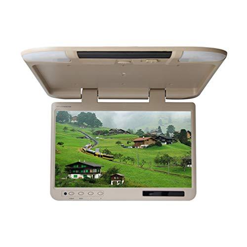 22 Zoll Auto Flip Down Monitor HDMI 1080P HD TFT LCD Dachmontage Monitor Ultra Thin Overhead MP5 Player für Auto SD MP3 MP4 LED mit FM Transmitter USB,beige (22 Zoll Monitor 1080p)
