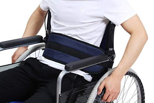 Rollstuhl Gurt Rückhaltegurte Patienten Pflege Sicherheitsgurt Gürtel Sitzgurt Stuhl Sitz Taille Schlaufengurt für ältere Menschen (blau) (Gurt Rollstuhl)