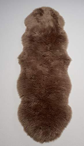 Yukon International Extra großes Schafslammfell, Mokka, Doppel-Lammfell Teppich