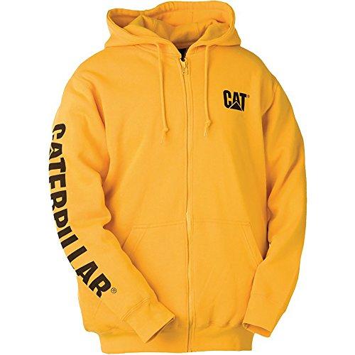 caterpillar-w10840-felpa-con-cappuccio-uomo-m-giallo