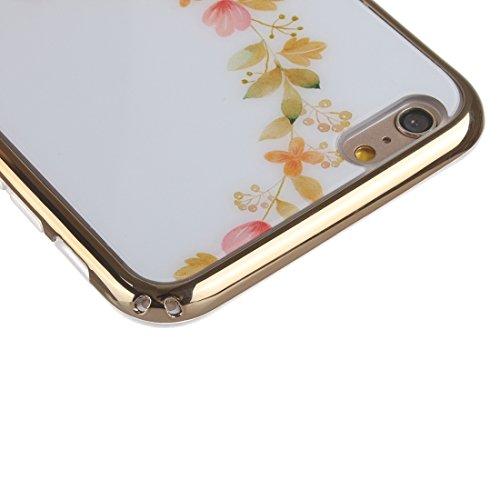 Phone Case Coque cover, Pour IPhone 6 / 6s, galvanoplastie de fleurs JUST Pattern TPU Housse de protection ( SKU : S-IP6G-0858A ) S-IP6G-0858D