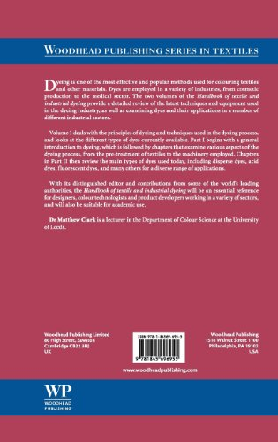 1: Handbook of Textile and Industrial Dyeing: Principles, Processes and Types of Dyes (Woodhead Publishing Series in Textiles)