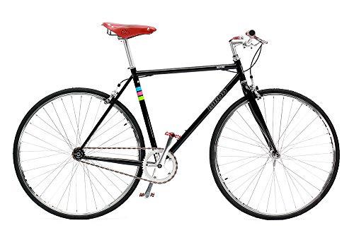 Bibóo Bikes Gekko Vintage Bicicleta Fixie, Unisex Adult, Negro, M