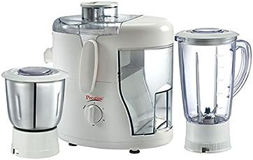 Prestige Juicer Mixer Grinder Champ (550 Watt) with 1 Liquidising Jar + Dry/Wet Grinding & Chutney Jar + Juicer Jar