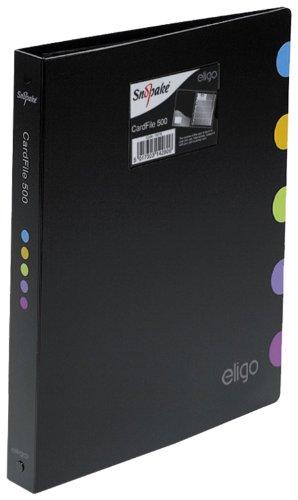Eligo Executive Visitenkartenordner (25 Seiten, Kapazität für 500 Karten)