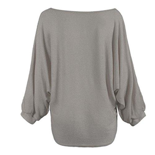 Transer - Pull - Femme multicolore a taille unique Gris