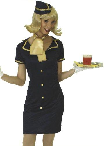 Party forever costume Kostüm Faschingskostüm sexy Stewardess - Kleid, Schiffchen und Schal, Gr. 36 38 - 31 250561 04