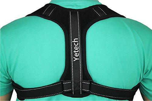 Soporte Espinal Corrector de Postura Yetech - Faja Postural Ajustable para Hombres y Mujeres – Alivio del dolor en cuello, hombros y espalda - Entrenador Postural