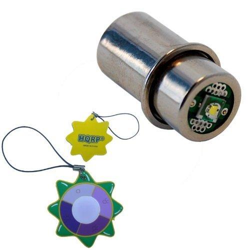 HQRP 200LM 3W LED Ersatzbirne fuer Mag-Lite 2 3 D C Zellen Taschenlampe LMSA201 Mag-num Star Xenon mit HQRP Sonnenlichtmesser
