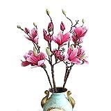 Calcifer 1Set 81,3cm Kunstblume Magnolie Bouquet für Home Dekoration/Hochzeit Decor violett