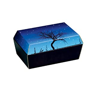 Amopet Corrugated Cordboard Size 1 Pet Coffin/ Casket for Small Birds Rodents, 20 x 12.5 x 9.5 cm Amopet Corrugated Cordboard Size 1 Pet Coffin/ Casket for Small Birds Rodents, 20 x 12.5 x 9.5 cm 41DzpKzOegL