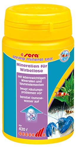 sera 03398 shrimps mineral salt  105 g - Speziell für die Bedürfnisse von Garnelen entwickelt
