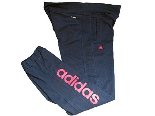 Adidas Ess BRD da donna blu scuro con risvolto Sport Palestra Pantaloni Pantaloni Leggings, donna, Adidas Ess Brd Pant, Dark Blue, Xlarge 20-22