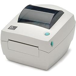 Zebra CG420d - Impresora de etiquetas (direct thermal/thermal transfer, 203 x 203 DPI, 102 mm/seg, 8 MB, 8 MB, 127 mm), color blanco
