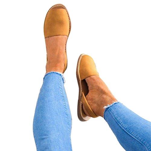 Juleya Frauen Sommer Sandalen Damen Flach Niedrigen Ferse Sandalen Fisch Mund Slip on Knöchel Heels Peep Toe Schuhe (Leder Gurt Knöchel)