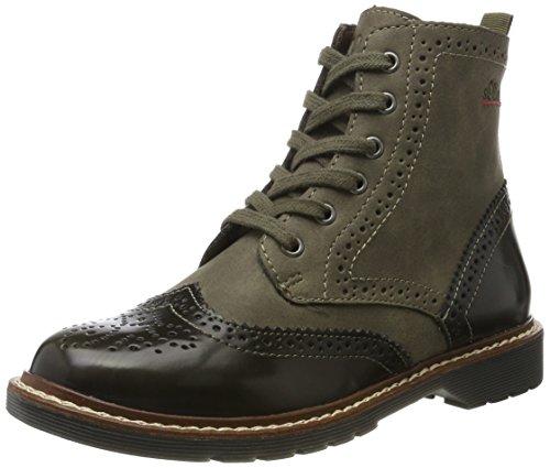 s.Oliver Damen 25465 Combat Boots, Grün (Khaki), 39 EU