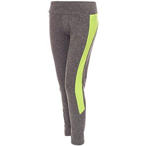 pantalon de survêtement de femmes leggings pantalon Veste et pantalon de survêtement Pantalon de sport Entraînement Maillot de rmise en forme 20613 Jaune