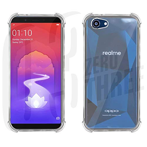 03 Transparent Bumper Case Four Angle Shockproof Case for Oppo Realme 1 Soft Clear Anti-Knock Back Cover Fitted Case-Oppo REALME 1