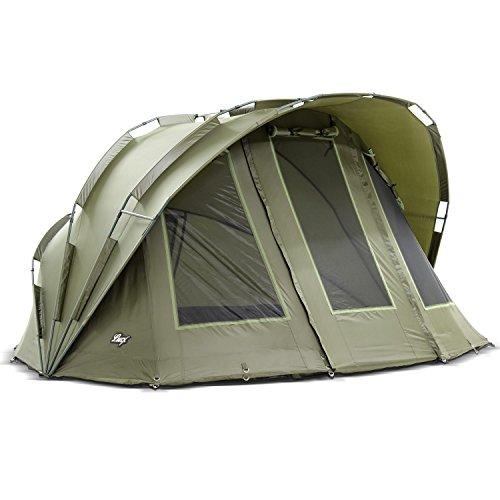 Lucx® Angelzelt Bobcat/Bivvy/Karpfenzelt 1-2 Mann / 10.000mm Wassersäule - Campingzelt/Zelt