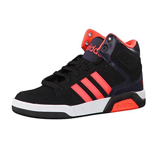 adidas Bb9tis Mid K, Chaussures de Sport Garçon Noir - Negro (Negbas / Rojsol / Ftwbla)