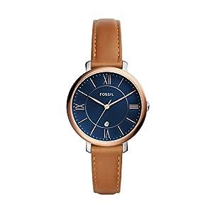 Fossil Damen Analog Quarz Uhr mit Leder Armband ES4274