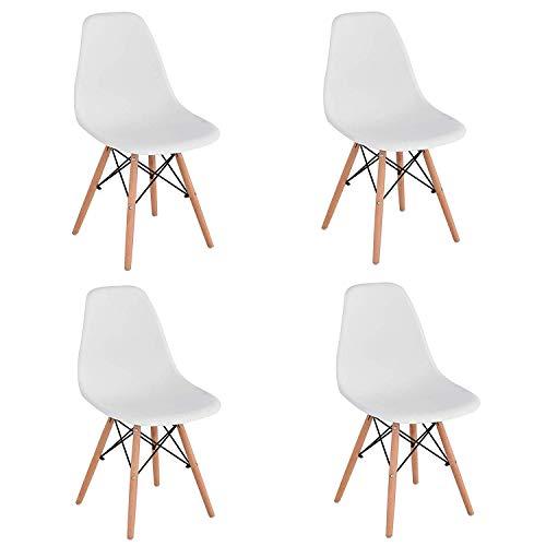 Lot de 2 chaises tendance rétro - Blanches
