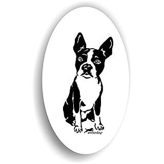 Hunde Boston Terrier Sticker Auto Aufkleber Art.ST0184 Autoaufkleber Wohnmobil Wohnwagen amberdog