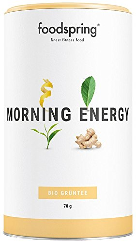 foodspring Functional Tea Morning Energy, 70g, Bio Grüntee mit natürlichem Koffein-Kick