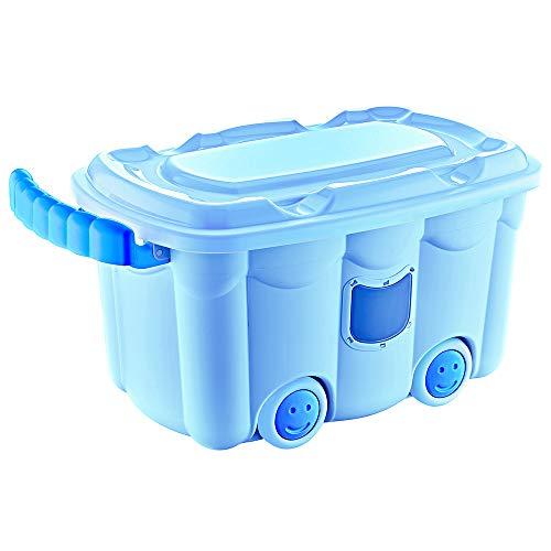 Furany Spielzeugkiste Truhe Aufbewahrung Spielzeug Toy Box (Blau)
