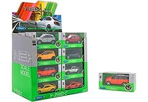 GLOBO- 1:34-39 Licence Car 12Asst 24 Piezas/D-Box (38514), (1)