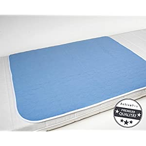 Inkontinenzunterlage waschbar 85×90 4-lagig, Krankenunterlage, Bettschutzauflage, Inkontinenzauflage ActivePro