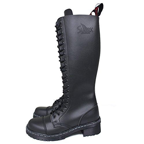 Veggie TANK Boots for Girls 20 Loch schwarz, Größe:04 (38)